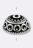 .925 Sterling Silver Bali Style Bead Cap 10x5 mm x1
