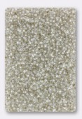 Miyuki Round Seed Beads 15/0 Crystal Silver Lined x10g