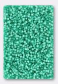 Delica Miyuki 11/0 Dyed Aqua Green s/l Alabaster x10g