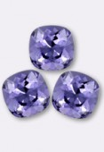 12mm Swarovski Crystal Cushion Cut Fancy Square Stone 4470 Tanzanite F x1