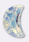 20mm Swarovski Crystal Half Moon Pendant 6722 Crystal AB x1