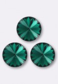 12mm Swarovski Crystal Rivoli Button 1122 Emerald F x1