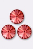 12mm Swarovski Crystal Rivoli Button 1122 Padparadscha F x1