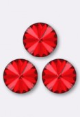 12mm Swarovski Crystal Rivoli Button 1122 Light Siam F x1