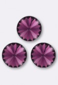 12mm Swarovski Crystal Rivoli Button 1122 Amethyst F x1