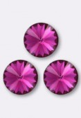 12mm Swarovski Crystal Rivoli Button 1122 Fuchsia F x1