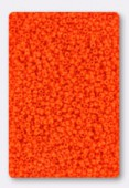 Miyuki 15/0 Round Seed Beads 15/0 Opaque Orange x10g