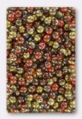 4mm Czech Smooth Round Glass Beads California Golg Rush x50