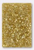 Miyuki Square Beads 1.8 mm SB0003 Gold Silver Lined x10g
