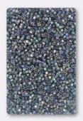 Miyuki Delica Hexcut 11/0 DBC0111Transparent Blue Grey Luster AB x10g