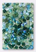 4mm Swarovski Crystal Bicone Beads 5328 ( Mix ) Jardin d' Emeraudes x50