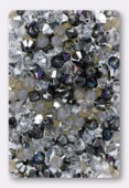 4mm Swarovski Crystal Bicone Beads 5328 ( Mix ) Nuits d'Argent x50