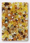 4mm Swarovski Crystal Bicone Beads 5328 ( Mix ) Ambre Baltique x50