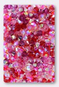 4mm Swarovski Crystal Bicone Beads 5328 ( Mix ) Roses d'Orient x50