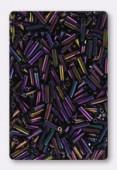 6 mm Miyuki Bugle Purple Iris x10g