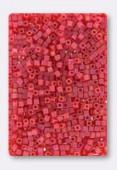 Miyuki Square Beads 1.8 mm SB0140FR Matt Light Red AB x10g