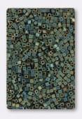 Miyuki Square Beads 1.8 mm SB2008 Matt Metallic Green Iris x10g