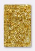 Miyuki Square Beads 4 mm Gold SilveR Lined x20g