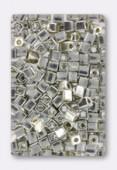 Miyuki Square Beads 4 mm Galvanized Silver x20g