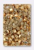 Miyuki Square Beads 4 mm Galvanized Yellow Gold x20g
