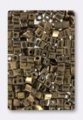 Miyuki Square Beads 4 mm Metallic Dark Bronze x20g
