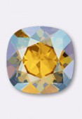 12mm Swarovski Crystal Cushion Cut Fancy Square Stone 4470  Light Topaz Shimmer F x1