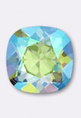 12mm Swarovski Crystal Cushion Cut Fancy Square Stone 4470  Erinite Shimmer F x1