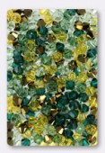 4mm Swarovski Crystal Bicone Beads 5328 Pine Forest Mix x50