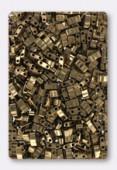 Miyuki Half Tila 2 Hole Rectangle Beads HTL457 Metallic Dark Bronze x10g