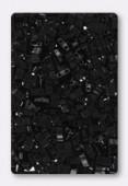 Miyuki Half Tila 2 Hole Rectangle Beads HTL401 Black x10g