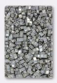 Miyuki Half Tila 2 Hole Rectangle Beads HTL1865 Opaque Smoke Grey Luster x10g