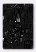 Miyuki Tila Beads 2 Hole Square Beads TL401 Black x10g