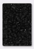 Miyuki Half Tila 2 Hole Rectangle Beads HTL401 Black Matted x10g