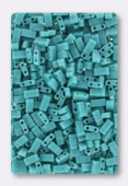 Miyuki Half Tila 2 Hole Rectangle Beads HTL412 Opaque Turquoise Green x10g