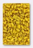 Miyuki Half Tila 2 Hole Rectangle Beads HTL2311 Opaque Canary Matted x10g