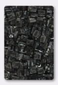 Miyuki Tila Beads TL4511 Picasso Opaque Smoky Black x10g