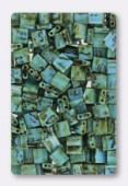 Miyuki Tila Beads TL4514 Picasso Opaque Seafoam Green x10g