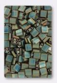 Miyuki Tila Beads TL2008 Matted Metallic Green Iris x10g