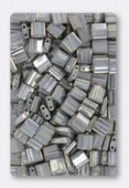 Miyuki Tila Beads TL1865 Opaque Smoke Grey Luster x10g