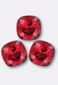 12mm Swarovski Crystal Cushion Cut Fancy Square Stone 4470 Scarlet F x1