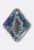 26mm Swarovski Crystal #6926 Growing Crystal Rhombus Pendant Crystal Vitrail Light x1