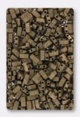 Miyuki Half Tila 2 Hole Rectangle Beads HTL2006 Metallic Dark Bronze Matted x10g