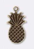 15x9mm Antiqued Brass Plated Pineapple Charms x1