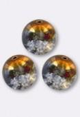 10mm Cracked Round Beads Topaz Grey AB x1