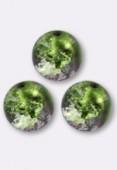 10mm Cracked Round Beads Purple Green AB x1