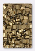 Miyuki Half Tila 2 Hole Rectangle Beads TL0457 Metallic Dark Bronze x10g