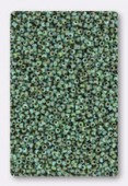Miyuki 15/0 Round Seed Beads Opaque Seafoam Green Picasso  x10g