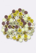5mm Swarovski Crystal Flatback Rhinestones 2058 SS20 6 Colors Mix x72 x72