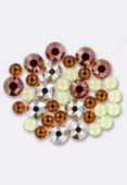 Swarovski Flatback 2028 5 mm / 7 mm 4 Colors Mix x36