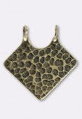 28mm Antiqued Brass Plated Hammered Spear Pendant x1